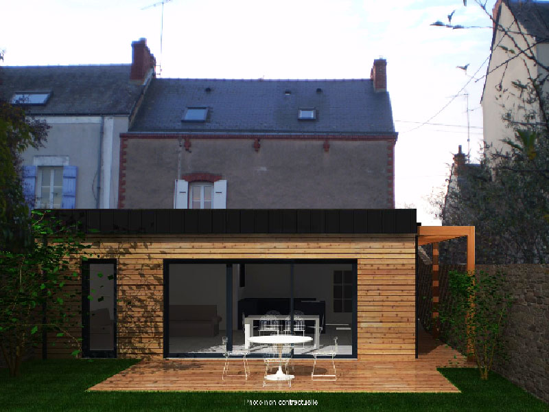Simple conception duextension de maison d cration for Creation plan maison