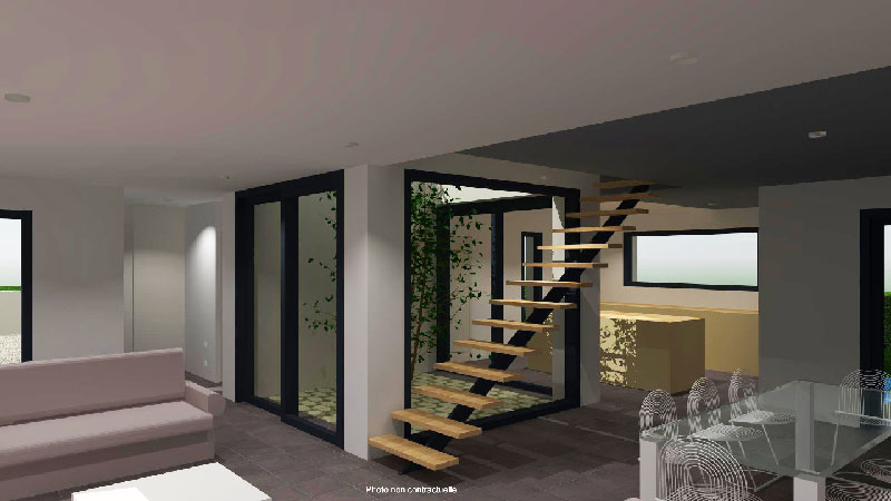 Plan maison int rieur pour agencement maison nantes vanessa garnier for Amenagement escalier interieur